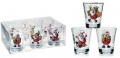 CHRISTMAS JOY pohár 8,5cl 6ks CLEAR BOX